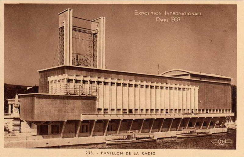 Expo Paris 1937 - Carte postale - Palais de la Radio