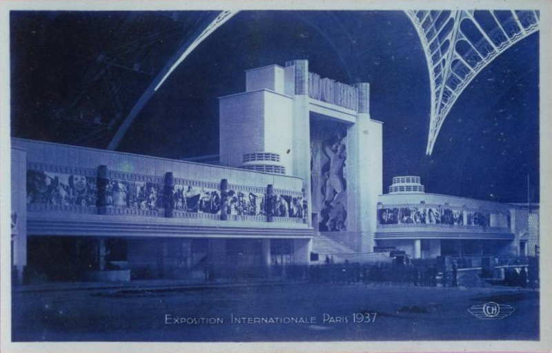 Expo Paris 1937 - Carte postale - Palais de la Photo - Cine - Phono