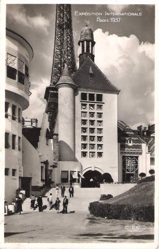 Expo Paris 1937 - Carte postale - Centre régional - Picardie
