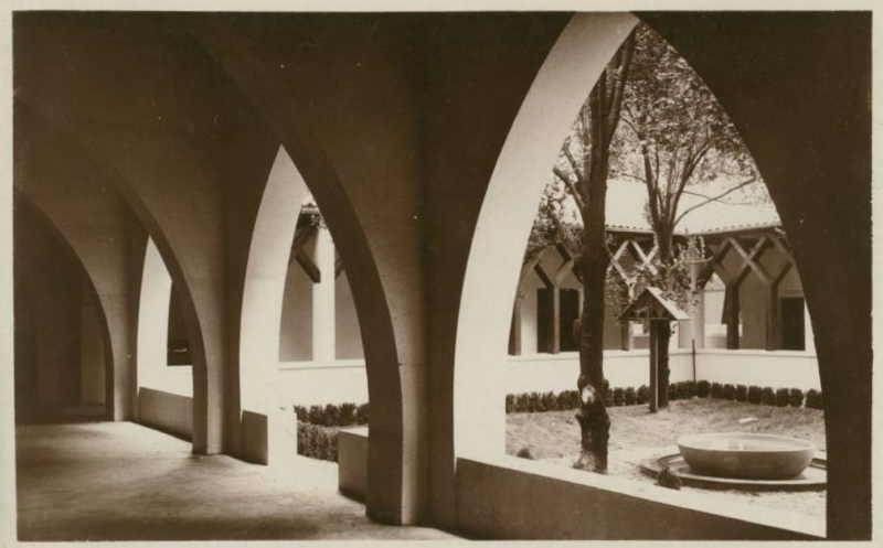 Expo Paris 1937 - Carte postale - Pavillon Pontifical