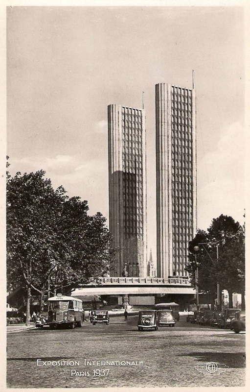 Expo Paris 1937 - Carte postale - Porte de l Alma
