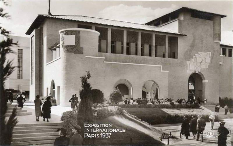 Expo Paris 1937 - Carte postale - Centre régional - Pyrénées-Orientales