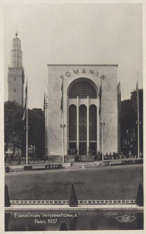 Expo Paris 1937 - Carte postale - Pavillon de la Roumanie