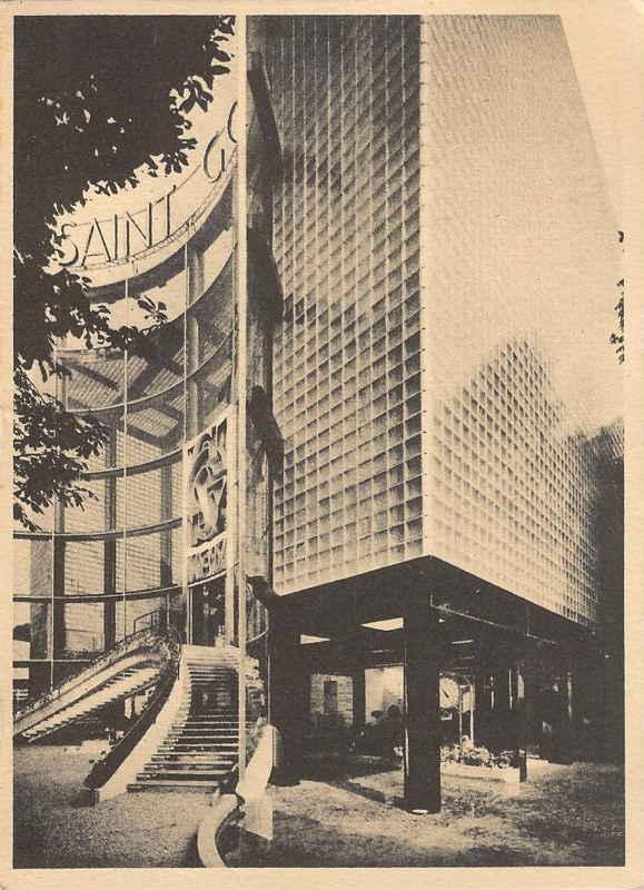 Expo Paris 1937 - Carte postale - Pavillon Saint Gobain