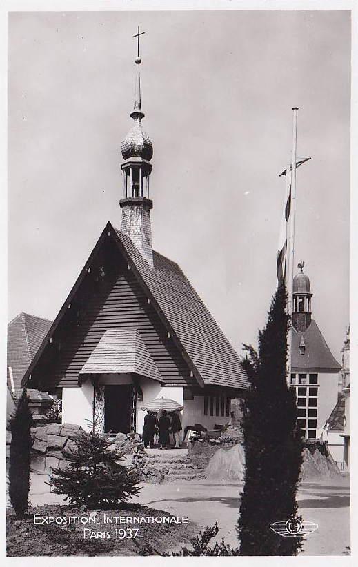 Expo Paris 1937 - Carte postale - Centre régional - Savoie - Haute-Savoie