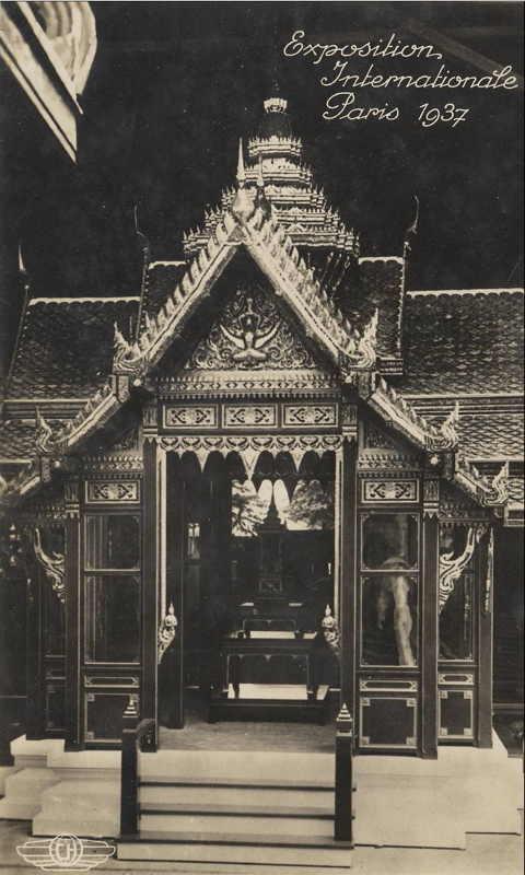 Expo Paris 1937 - Carte postale - Pavillon du Siam