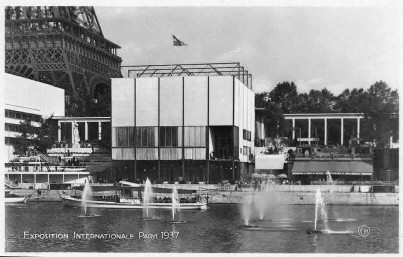 Expo Paris 1937 - Carte postale - Pavillon de la Suède