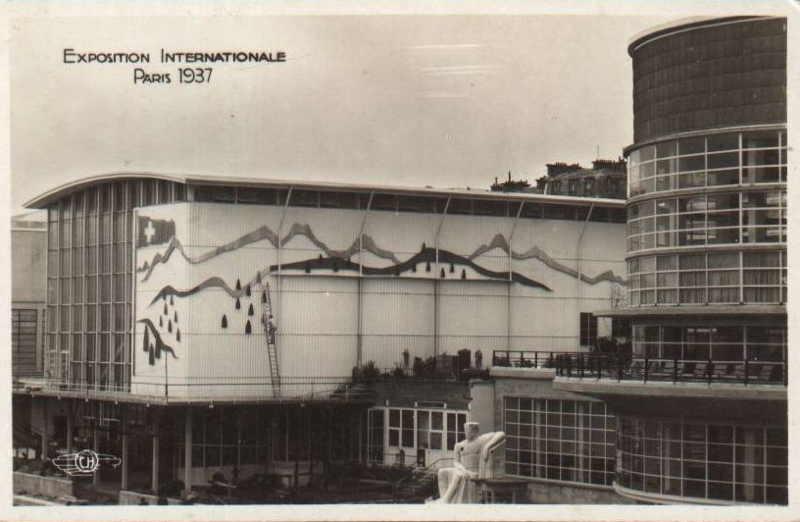 Expo Paris 1937 - Carte postale - Pavillon de la Suisse