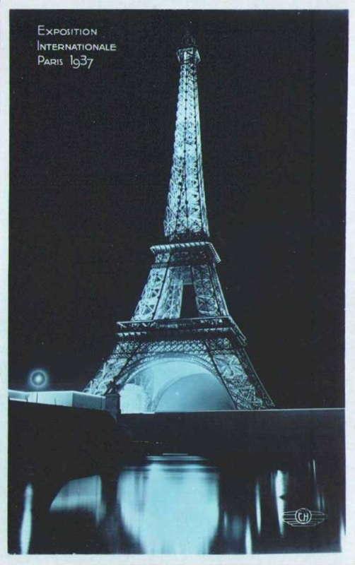 Expo Paris 1937 - Carte postale - Tour Eiffel
