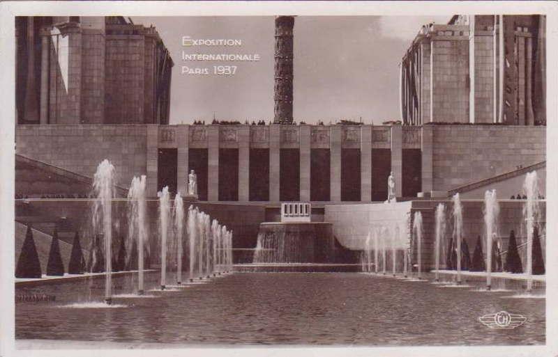 Expo Paris 1937 - Carte postale - Trocadéro - Palais de Chaillot