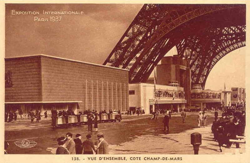 Expo Paris 1937 - Carte postale - Vue d ensemble
