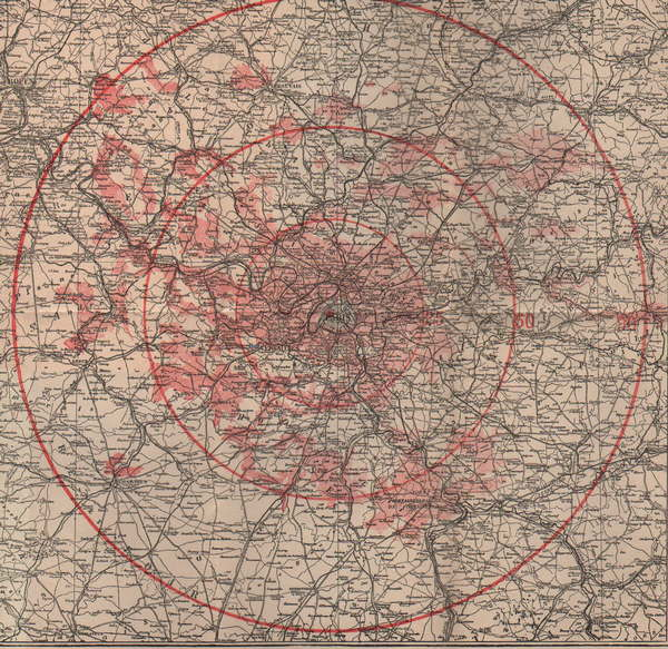 carte représentant ce que l on voit du haut de la tour Eiffel