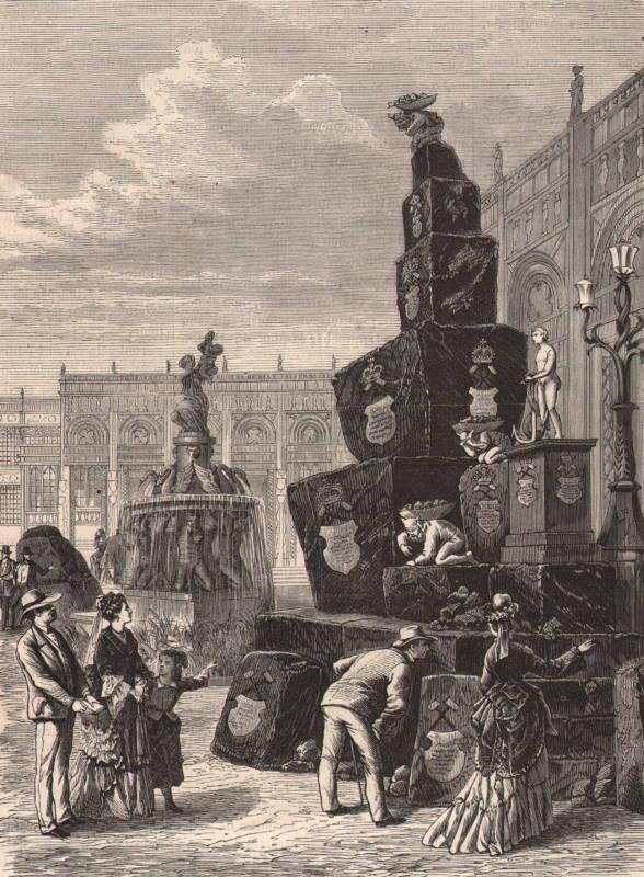 Monument en charbon à l exposition de Vienne 1873