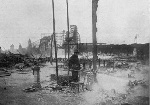 la section belge après l incendie