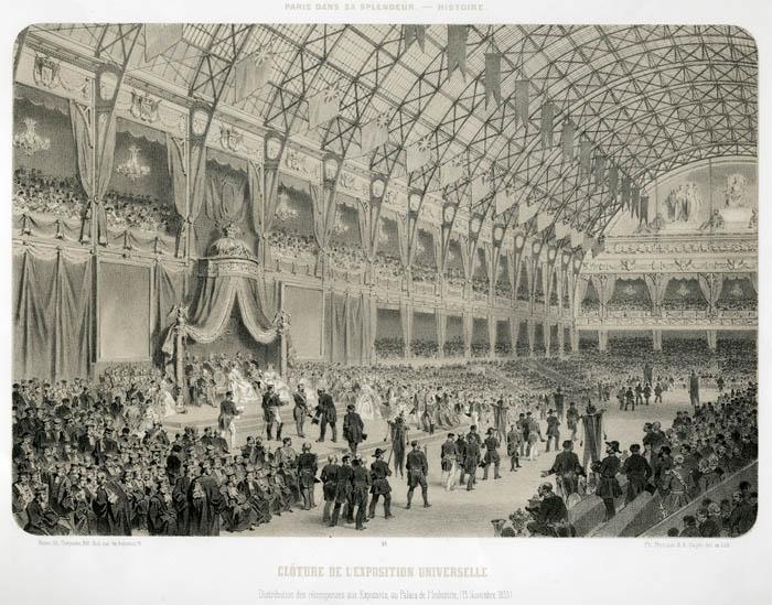 Cérémonie de clôture de l Exposition Universelle de Paris 1855