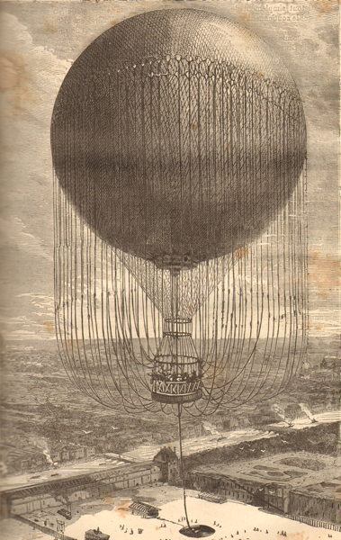 Le grand ballon captif de l exposition de Paris de 1878