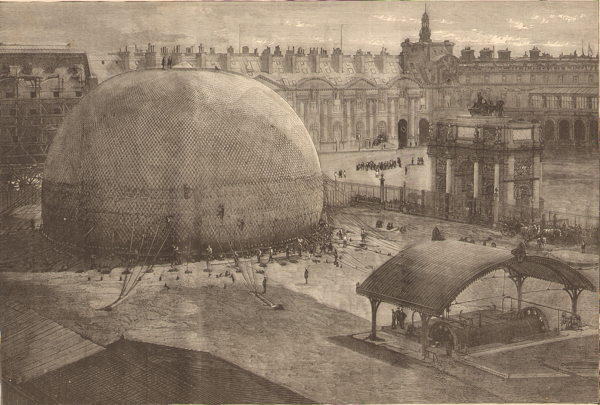 Le grand ballon captif de l exposition de Paris de 1878 - gonflage