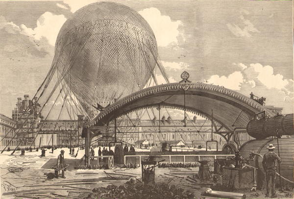 Le grand ballon captif de l exposition de Paris de 1878 - mécanisme