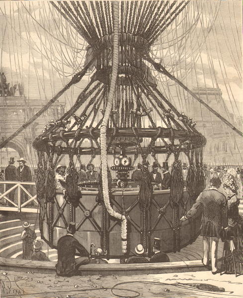 Le grand ballon captif de l exposition de Paris de 1878 - nacelle