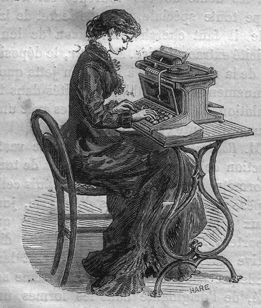 Machine à écrire présentée à l exposition de Paris 1878