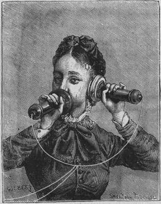 Le téléphone à l exposition de Paris de 1878 - Personne parlant