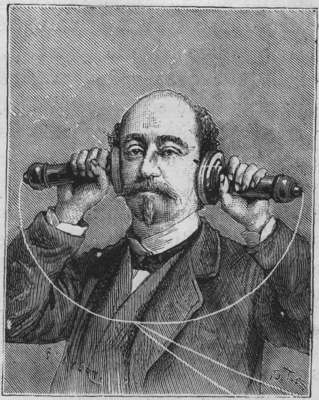 Le téléphone à l exposition de Paris de 1878 - Personne écoutant