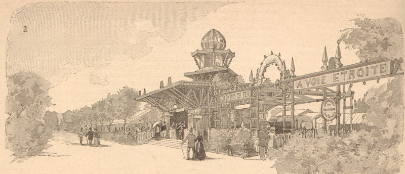 Expo Paris 1889 - Station de la Concorde
