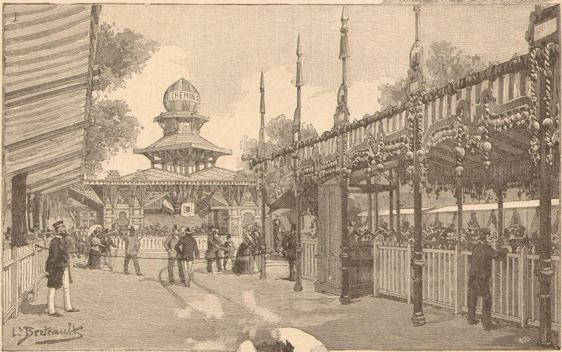 Expo Paris 1889 - Station de la Tour Eiffel
