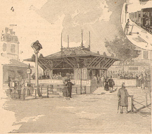 Expo Paris 1889 - Station du Palais des Machines