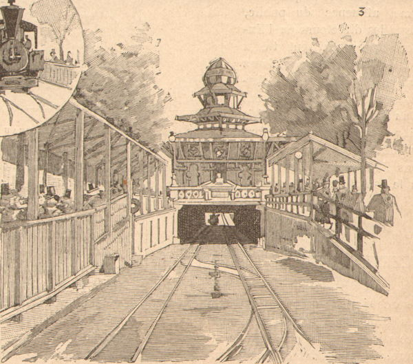 Expo Paris 1889 - Tunnel de 106 mètres