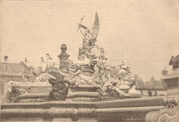 Expo Paris 1889 - Fontaine lumineuse de Coutan