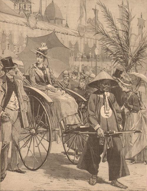 Expo Paris 1889 - Voiture Annamite, pousse-pousse