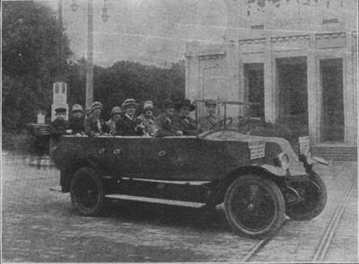Expo Paris 1925 - Un des électrocars en service à L Exposition