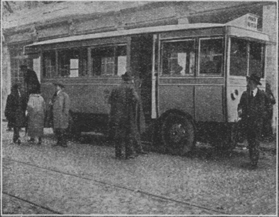 Expo Paris 1925 - Autobus électrique de la ville de Lyon