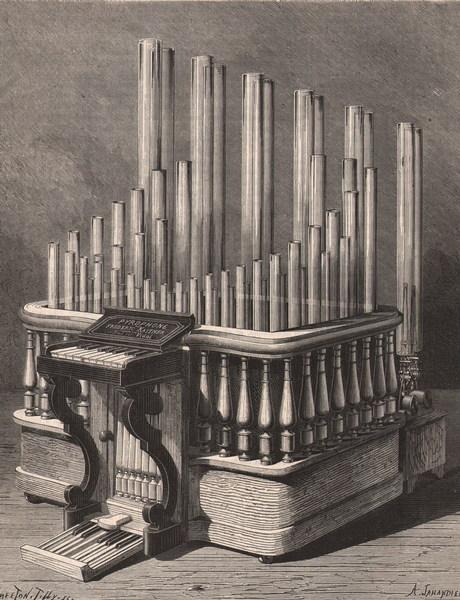 Le pyrophone de Kastner de l exposition de Vienne 1873