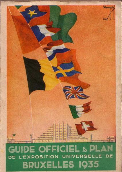 Livre - Guide Officiel et Plan de l Exposition Universelle de Bruxelles 1935