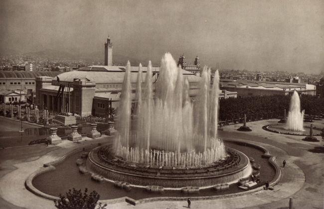 Expo Barcelona 1929 - Photos - Fontaines lumineuses