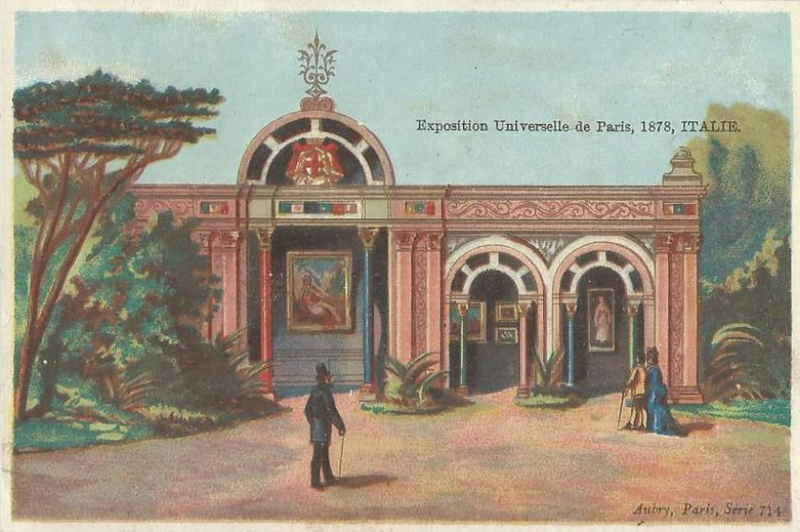 Exposition Universelle de Paris 1878 Pavillon de l Italie - Rue des Nations