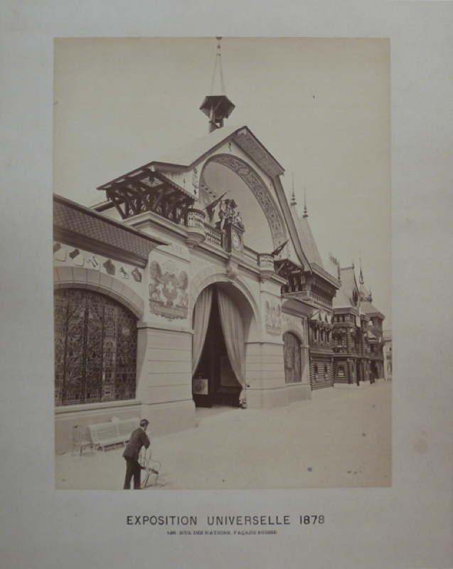 Exposition Universelle de Paris 1878 Pavillon de la Pavillon de la Suisse - Rue des Nations