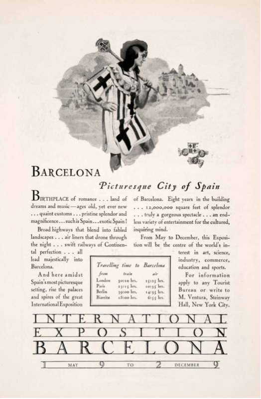 Expo Barcelona 1929 - Advertisement