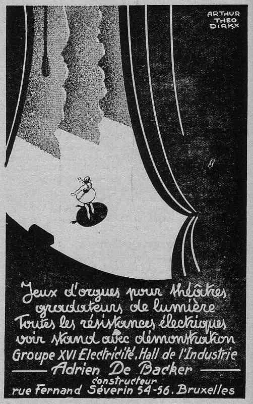 Expo Bruxelles 1935 - Publicité - Adrien de Backer