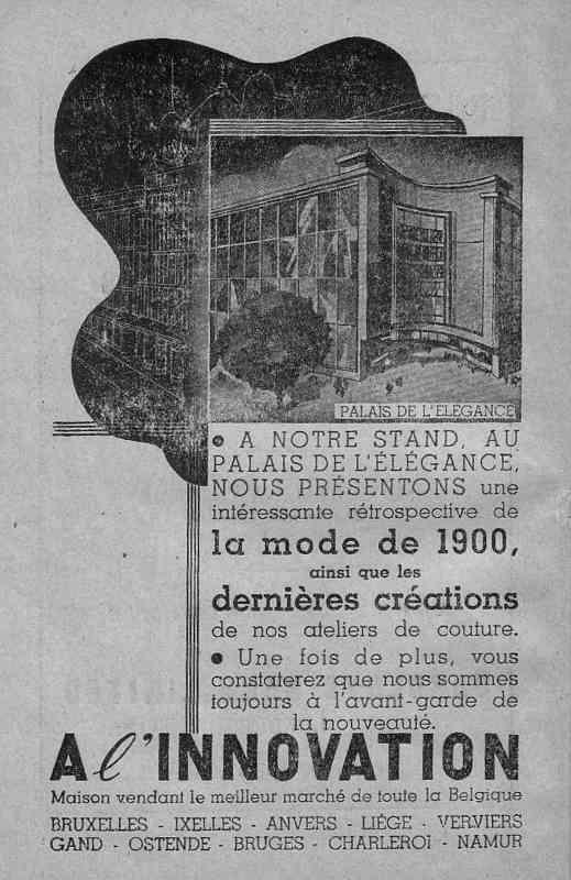 Expo Bruxelles 1935 - Publicité - A l Innovation