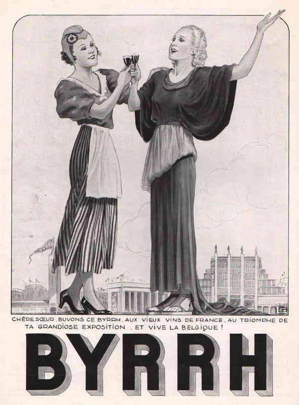 Expo Bruxelles 1935 - Publicité - Byrrh