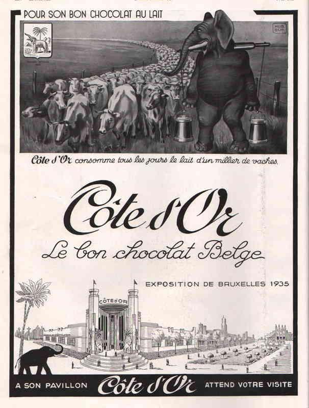 Expo Bruxelles 1935 - Publicité - Chocolat Cote d Or