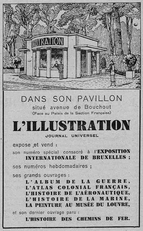 Expo Bruxelles 1935 - Publicité - L Illustration