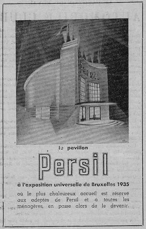 Expo Bruxelles 1935 - Publicité - Persil