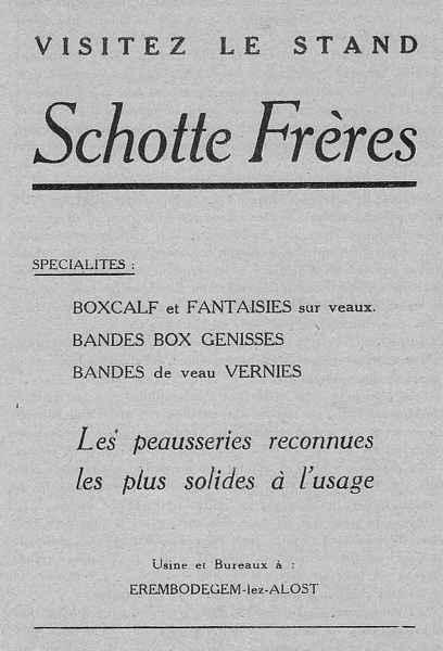 Expo Bruxelles 1935 - Publicité - Schotte Frères