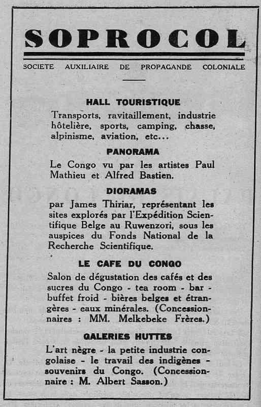 Expo Bruxelles 1935 - Publicité - Soprocol