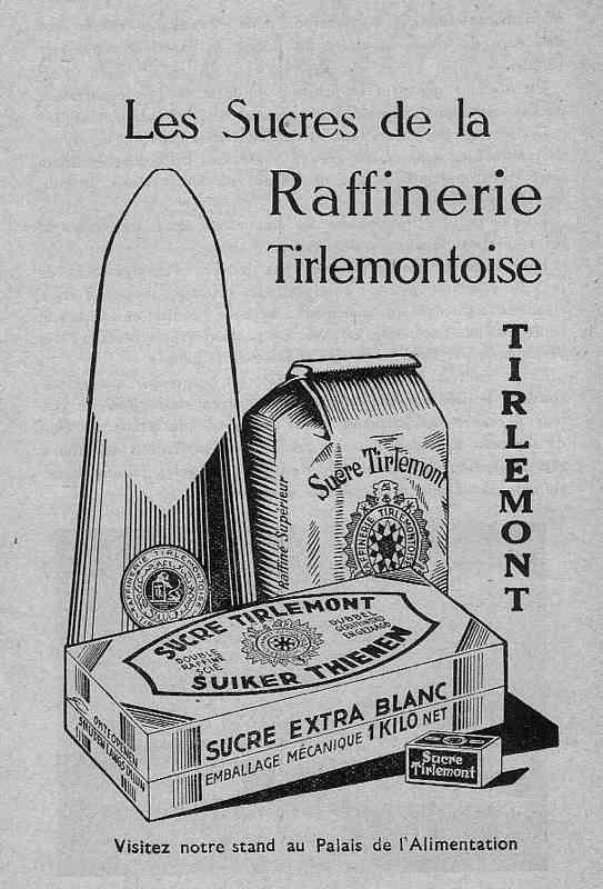 Expo Bruxelles 1935 - Publicité - Sucre Tirlemont