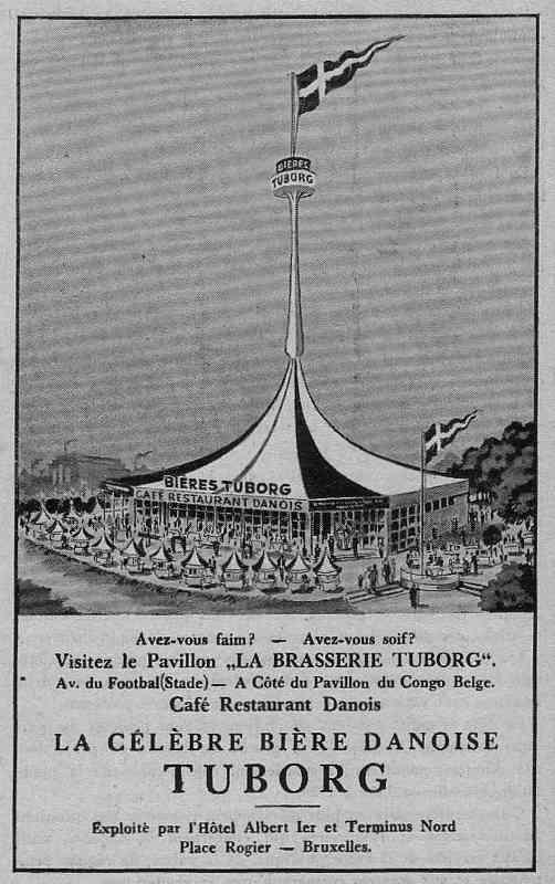 Expo Bruxelles 1935 - Publicité - Tuborg